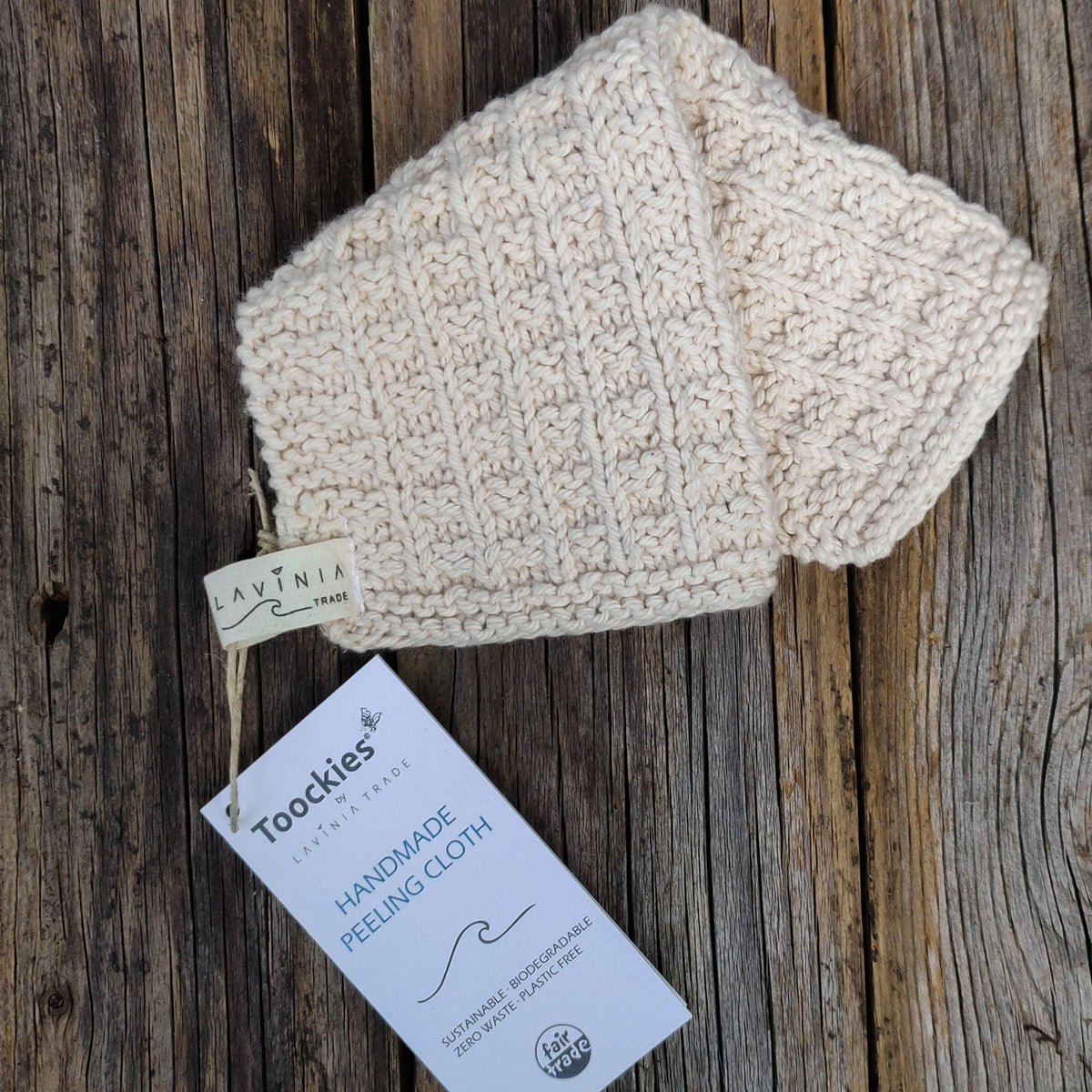 Knitted Organic Cotton Face Cloth | Flannel - The Naughty Shrew