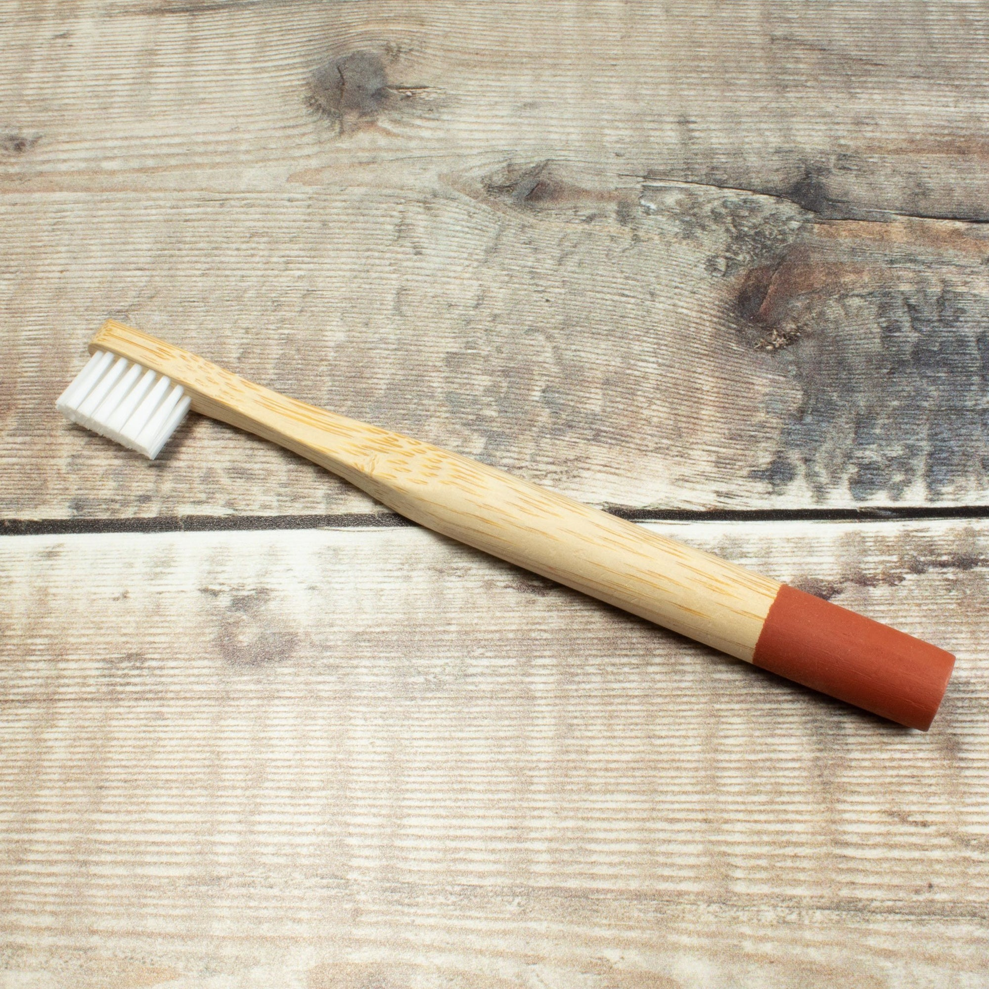 Bamboo Toothbrush For Kids - Red | Toothbrush - The Naughty Shrew