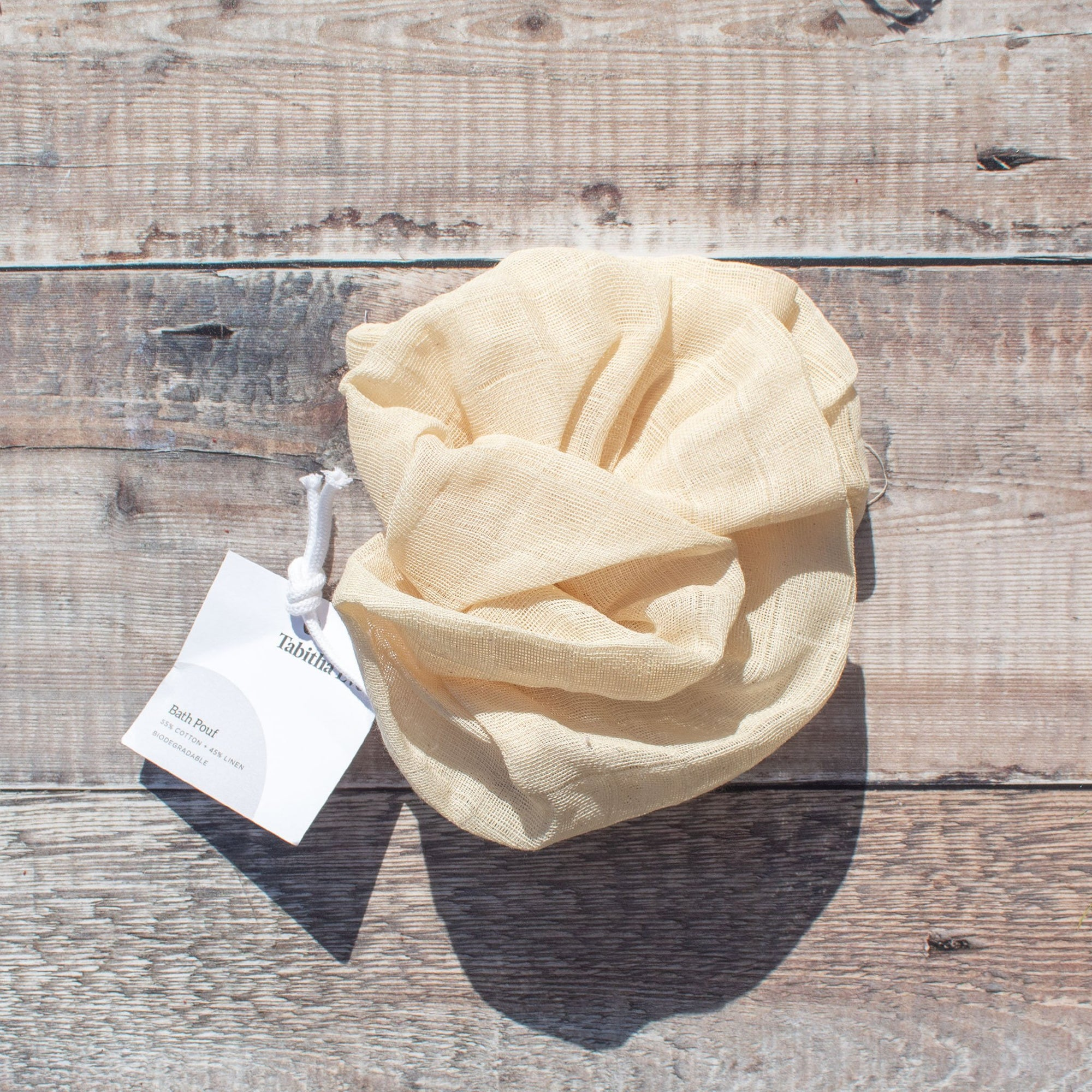 Organic Cotton Bath Pouf | Flannel - The Naughty Shrew