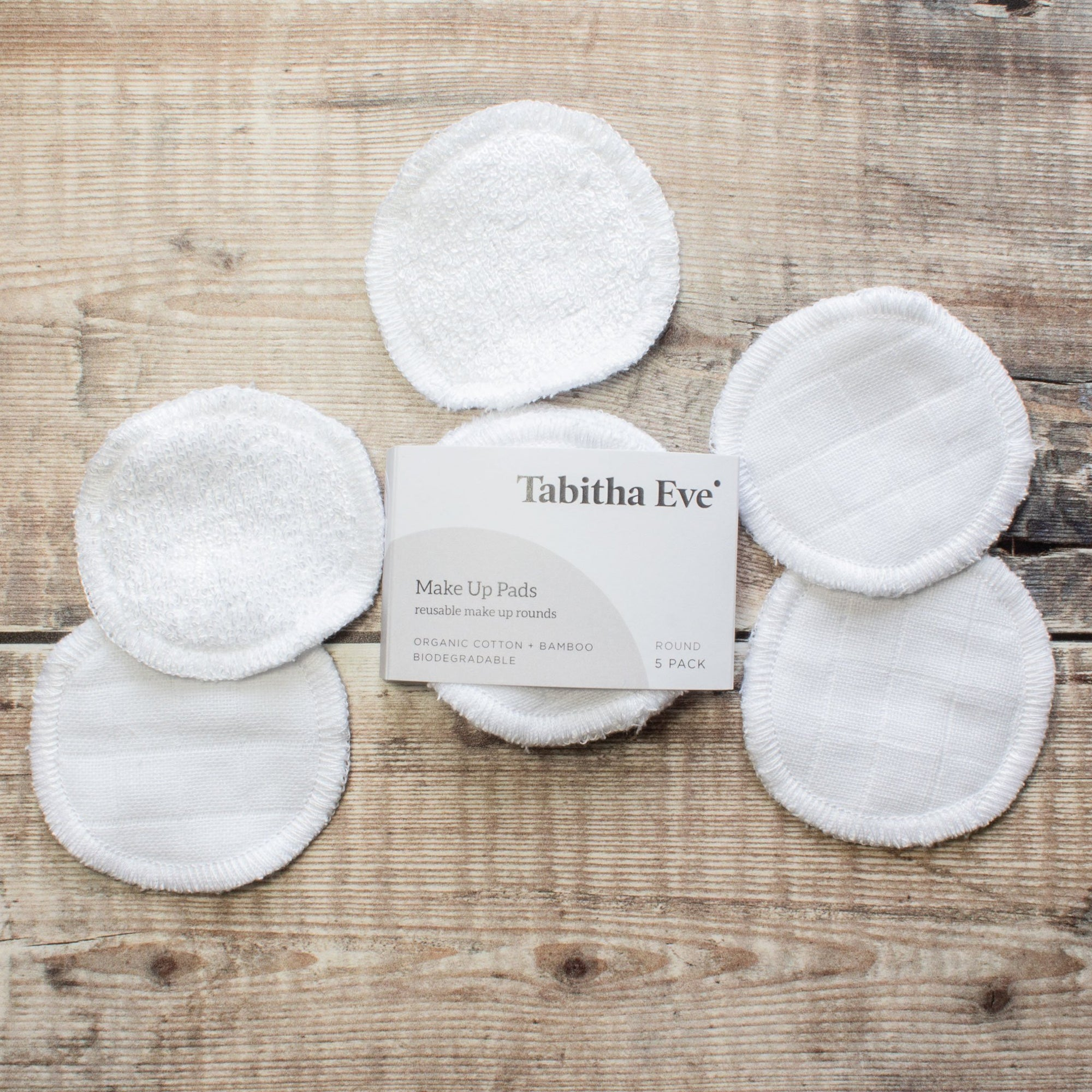 Reusable Make Up Remover Pads - Set Of 5 | Flannel - The Naughty Shrew
