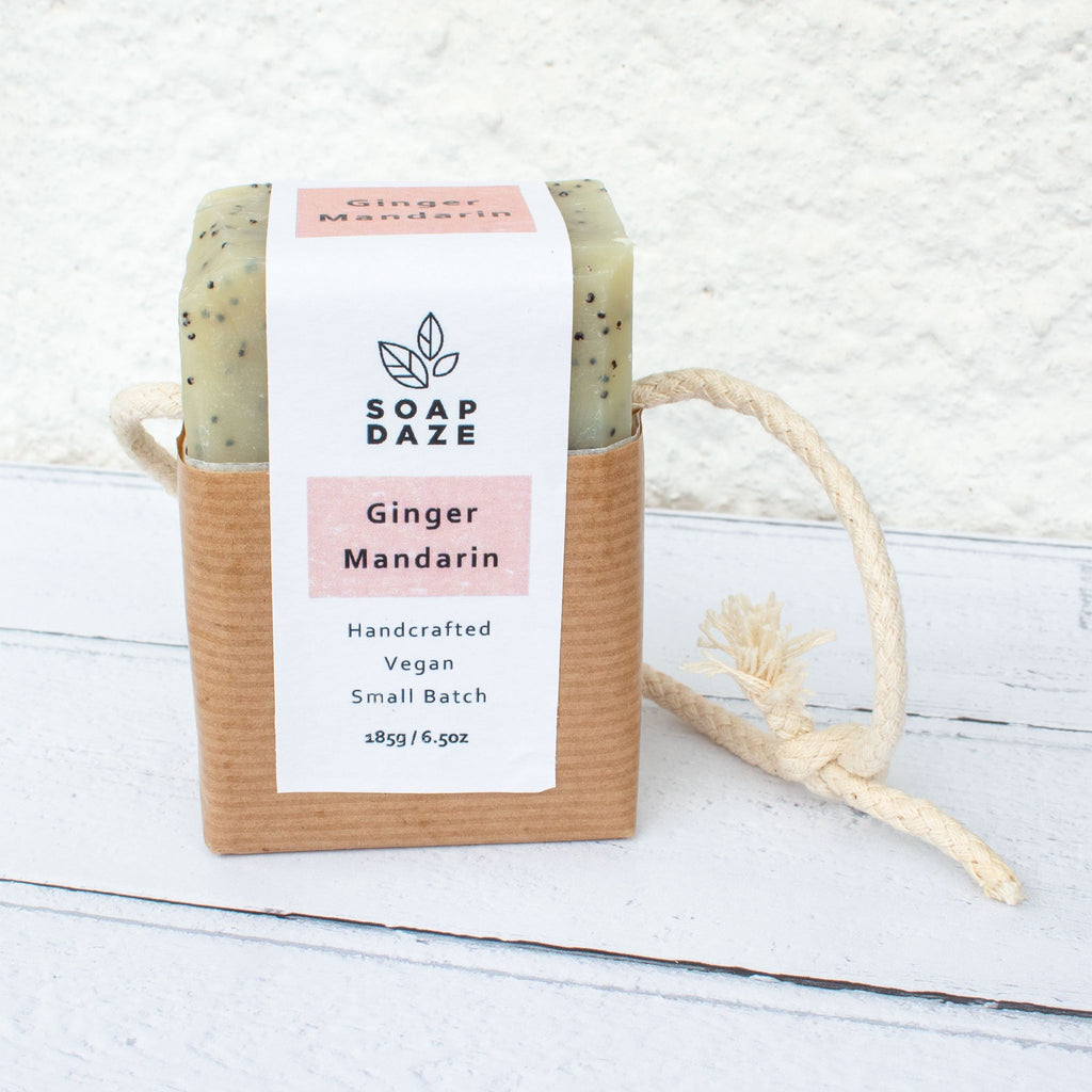 Ginger & Mandarin Soap On A Rope - the naughty shrew
