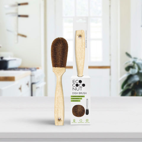 Coconut Bristle Washing Up Brush | Washing Up Brush - The Naughty Shrew