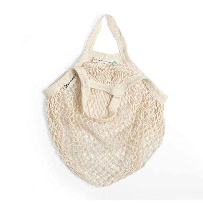 Short Handled Organic Cotton String Bag - Cream | String Bag - The Naughty Shrew