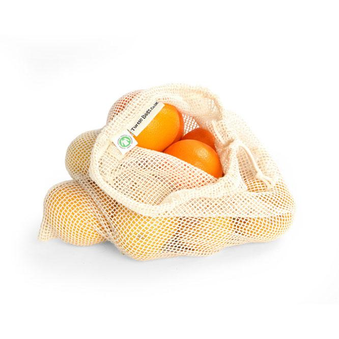 Organic Cotton Net Produce Bag - Large | Produce Bag - The Naughty Shrew