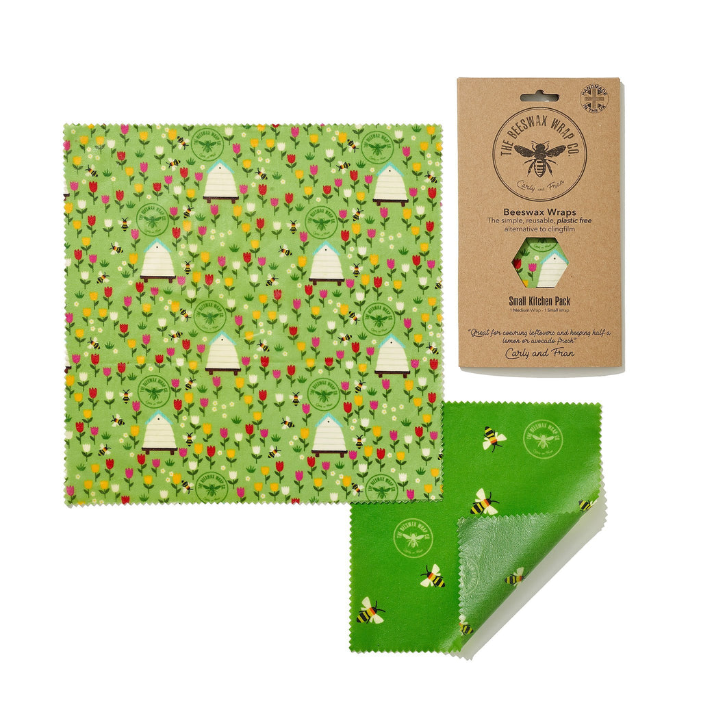 Beeswax Food Wrap - Small Kitchen Pack - Land Design - The Naughty Shrew