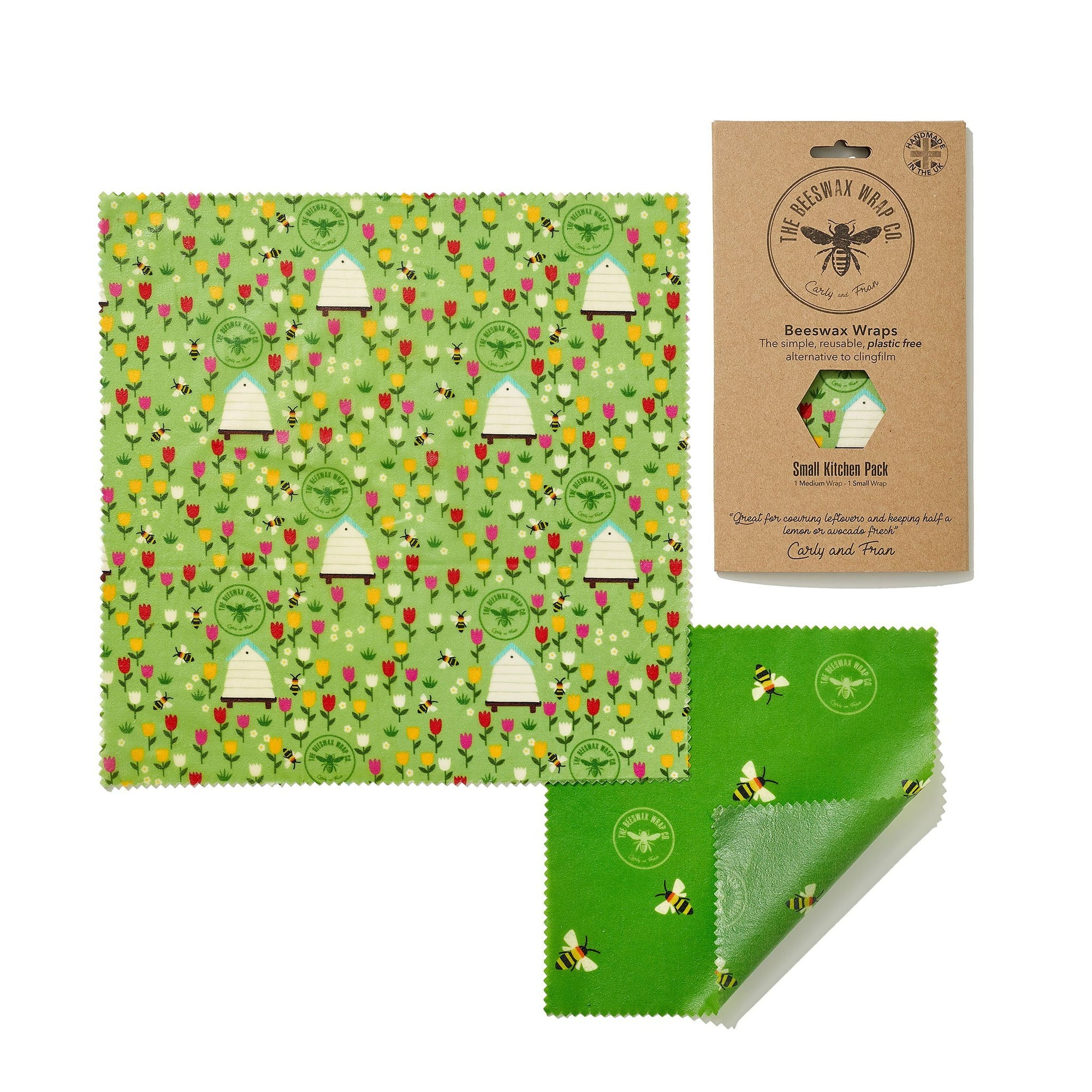 Beeswax Food Wrap - Small Kitchen Pack - Land Design | Food Wrap - The Naughty Shrew
