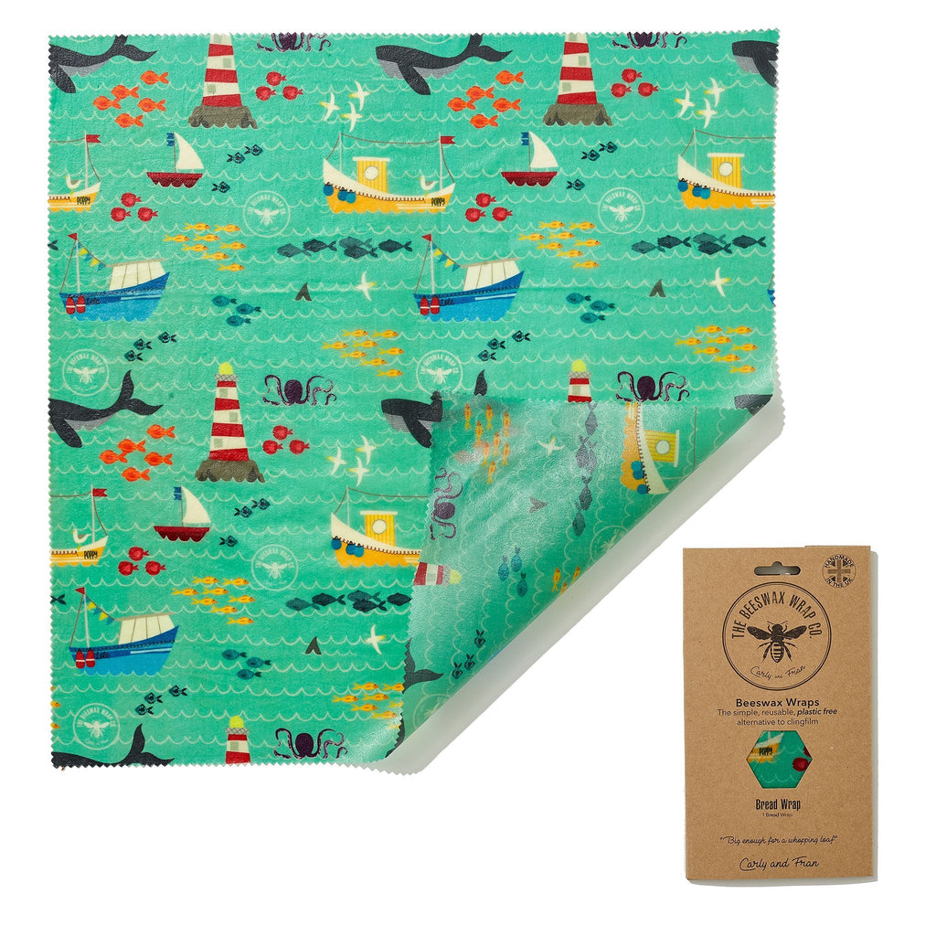 Beeswax Food Wrap - Bread Wrap - Sail Design - The Naughty Shrew