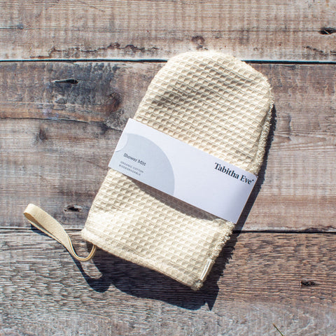 Organic Cotton Shower Mitt | Flannel - The Naughty Shrew