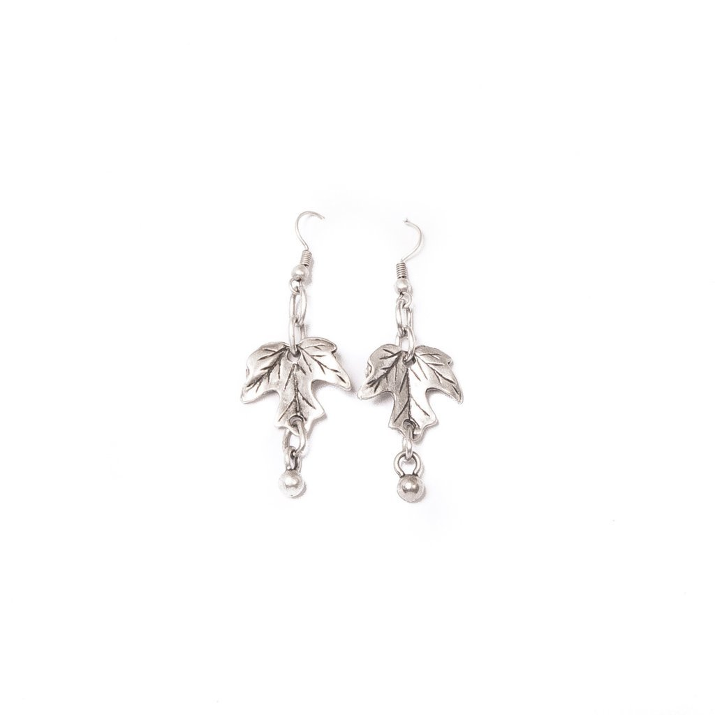 Delicate ivy leaf earrings | Earrings - The Naughty Shrew