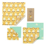 Beeswax Food Wrap - Large Kitchen Pack | Food Wrap - The Naughty Shrew