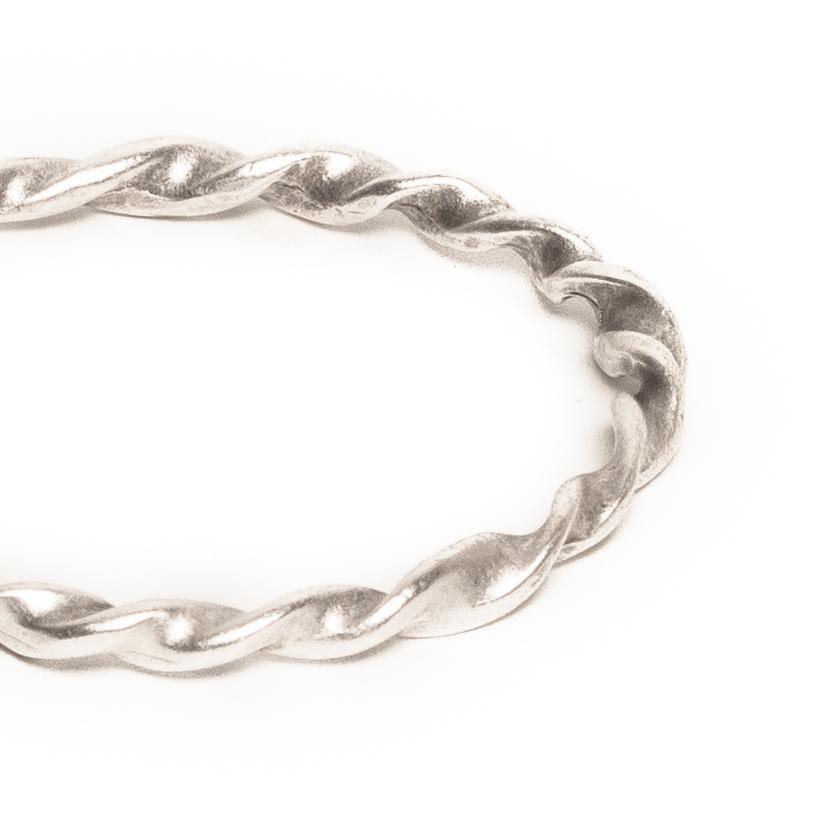 Twisted spiral bangle | Bracelet - The Naughty Shrew