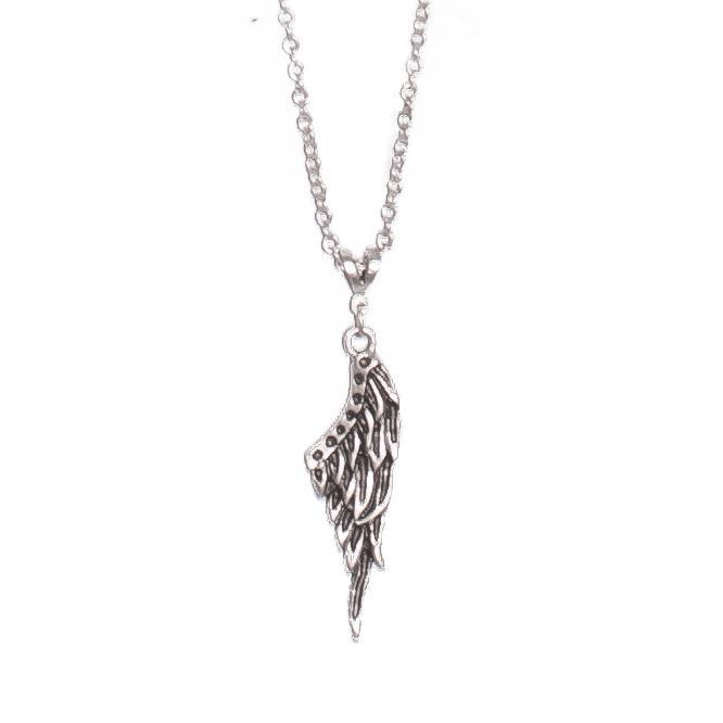 Feathered wing pendant necklace | Necklace - The Naughty Shrew
