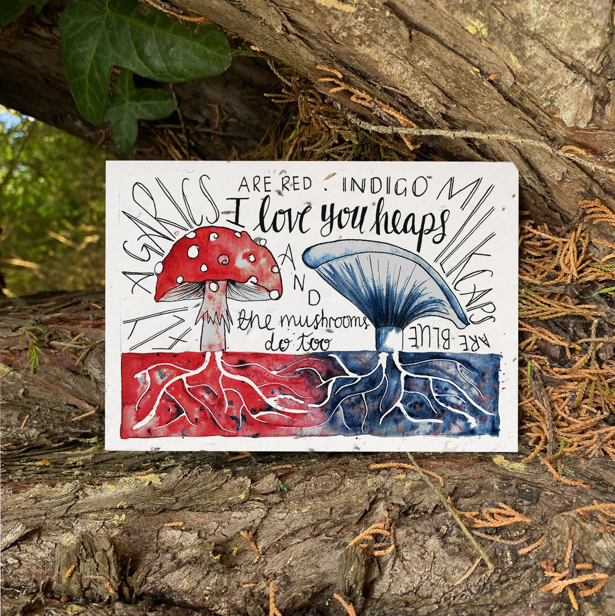 Mushroom Love - Plantable Wildflower Card | Greetings Card - The Naughty Shrew
