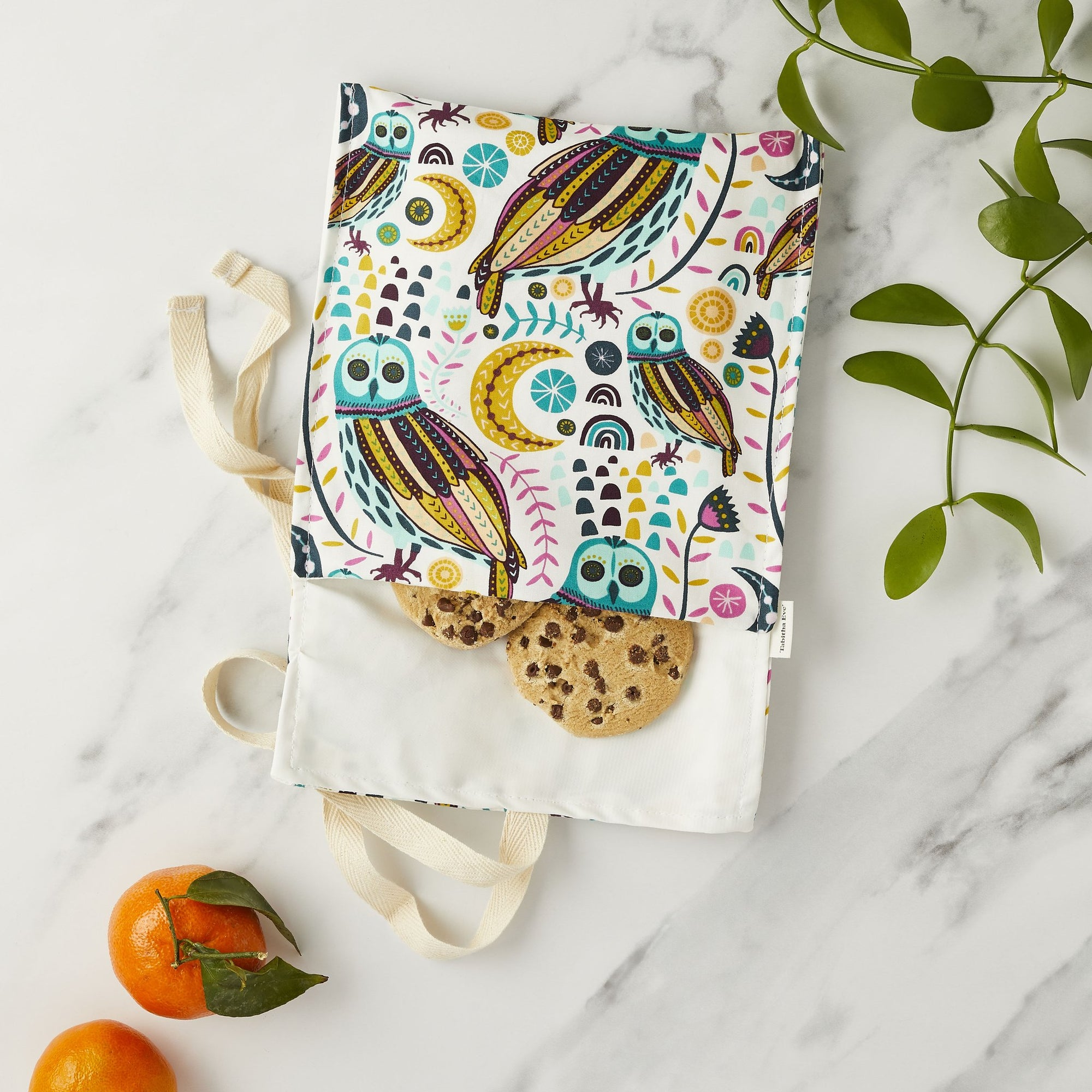 Snack Bag - Owls | Snack Pouch - The Naughty Shrew
