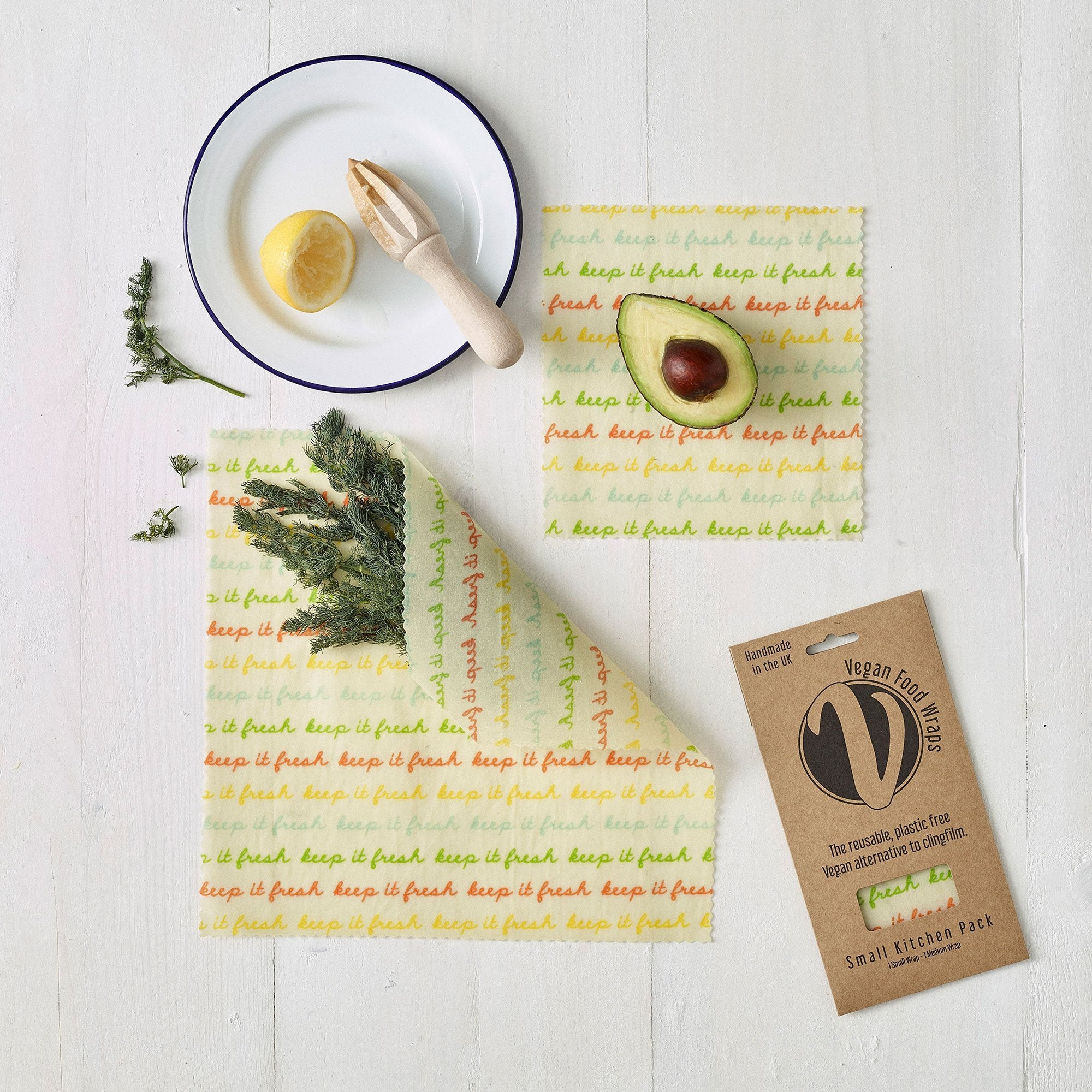 Vegan Food Wrap - Small Kitchen Pack | Food Wrap - The Naughty Shrew