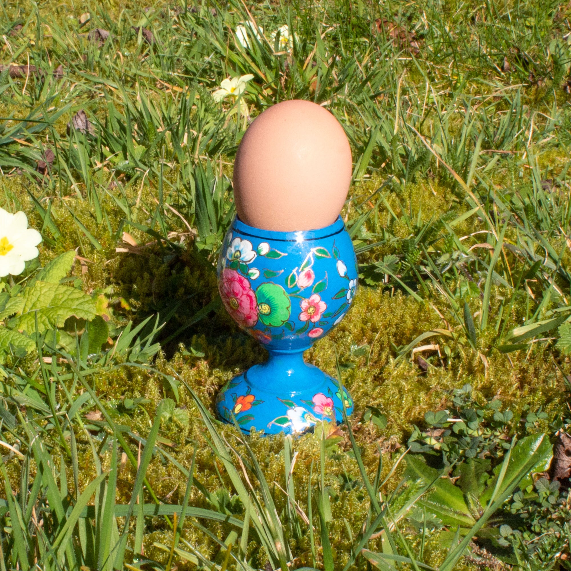 Hand Painted Decorative Egg Cup - Blue | Egg Cup - The Naughty Shrew
