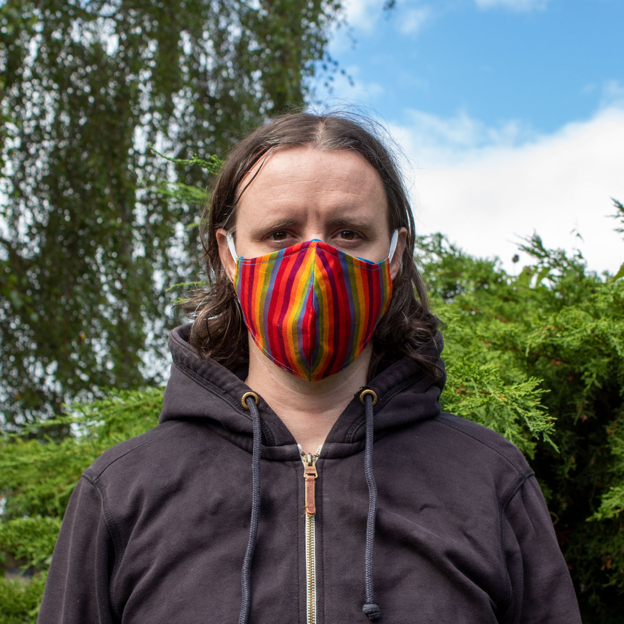 Rainbow Face Covering - Larger Size | Face Covering - The Naughty Shrew