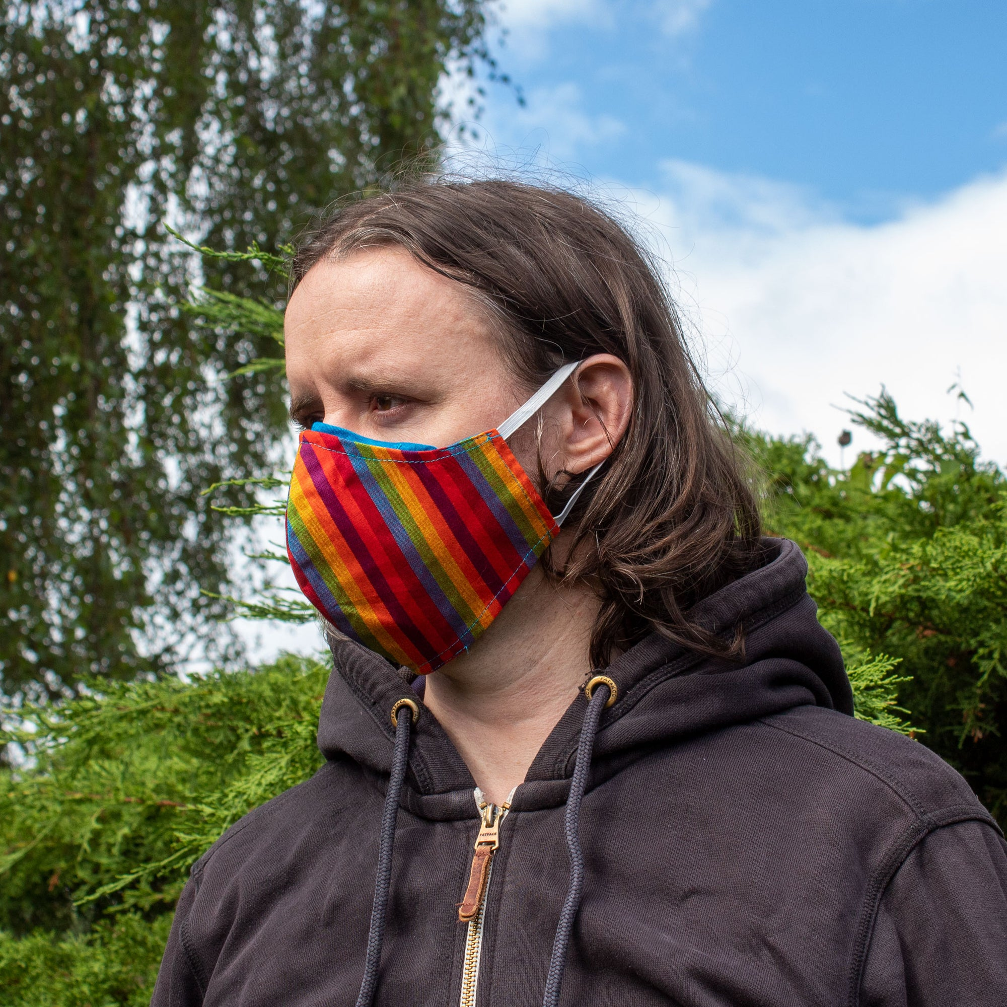 Rainbow Face Covering - Medium Size | Face Covering - The Naughty Shrew