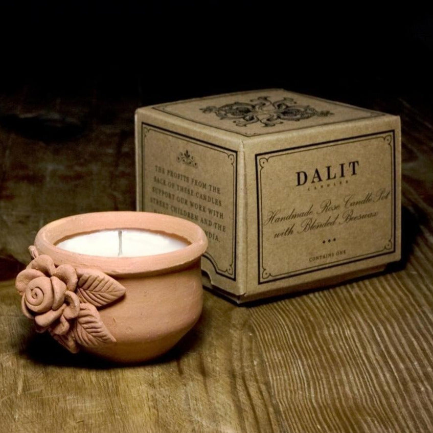 Lavender Scented Candle in Rose Clay Plot | Candle - The Naughty Shrew