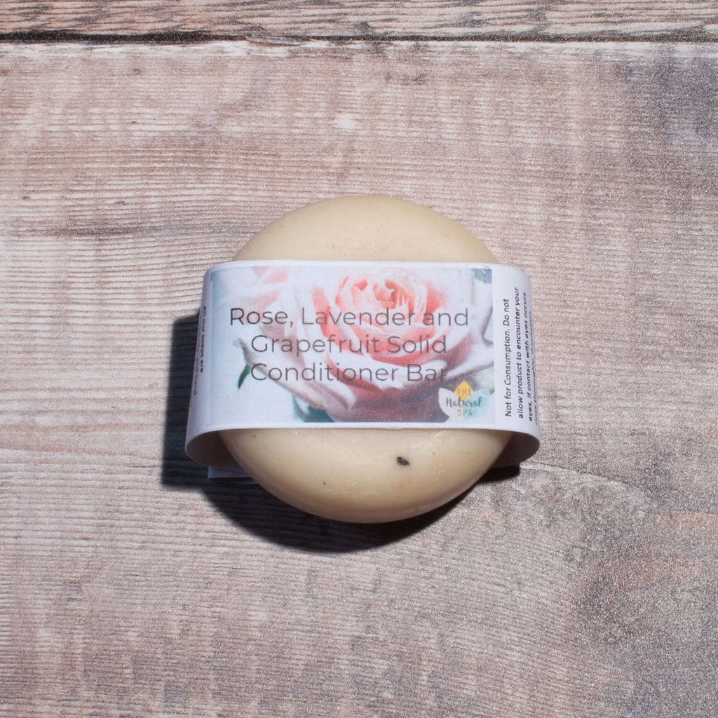 Rose, Lavender & Grapefruit Solid Hair Conditioner Bar | Conditioner Bar - The Naughty Shrew