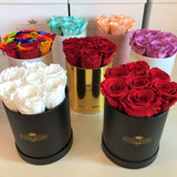 Mini Round Real Luxury Rose Box - Lifetime is Over 1 Year - The Royal Roses