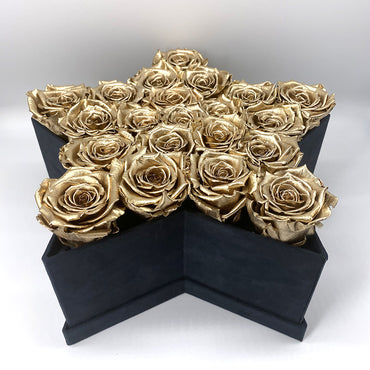 Limited Edition Star Box - Special Collection of Real Long Lasting Roses - Lifetime is Over 1 Year - The Royal Roses