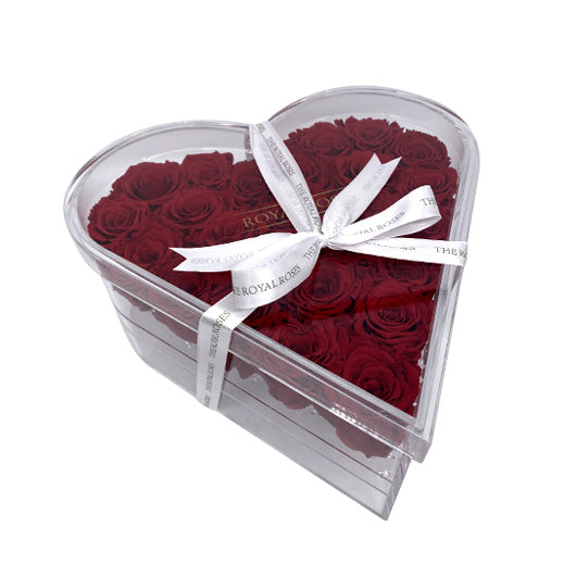 Limited Luxury Heart Acrylic Box - The Royal Roses