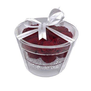 Luxury Round Acrylic Box - The Royal Roses