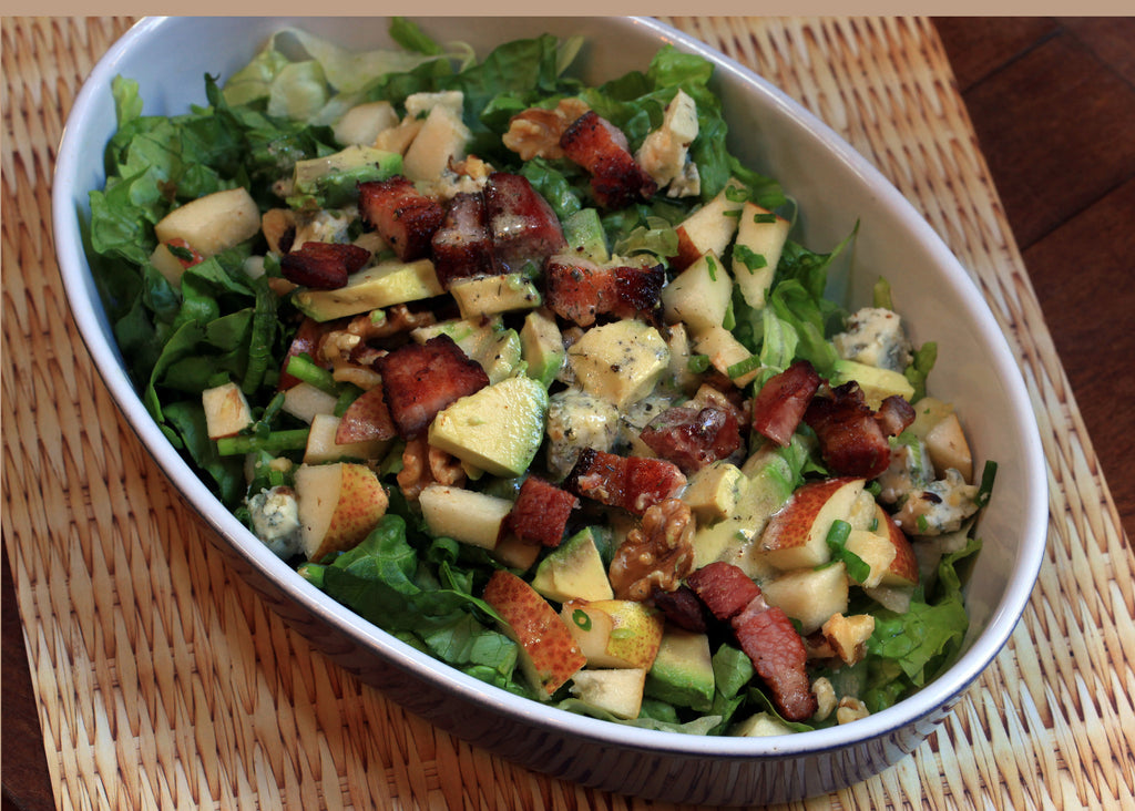 Autumn Salad with Pork Belly and Pears Recipe