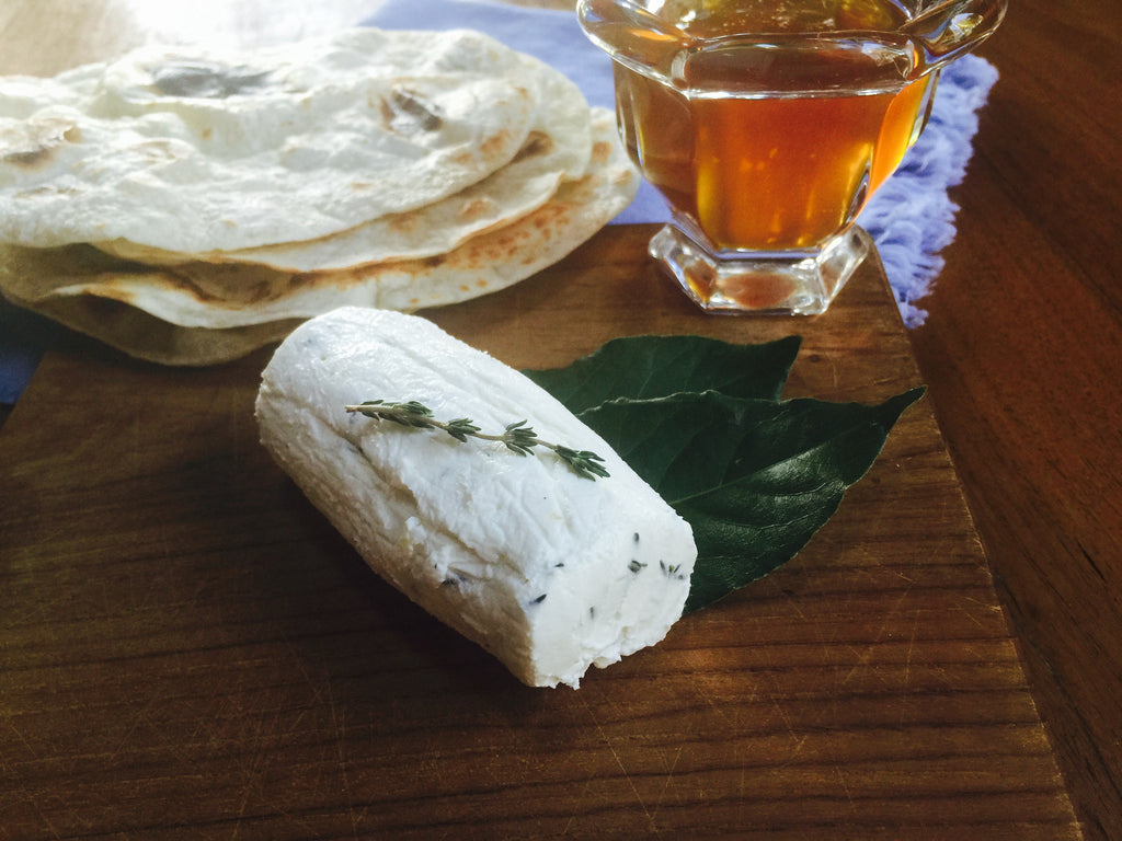 Goat Cheese with Thyme, Garlic and Honey Recipe