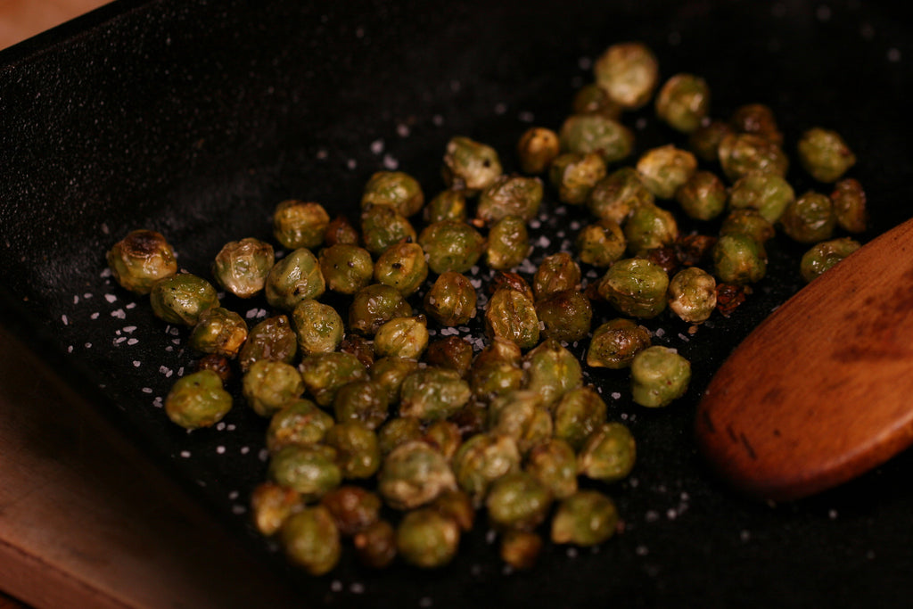 Roasted Chickpeas with Cracked Pepper and Lemon Zest Recipe