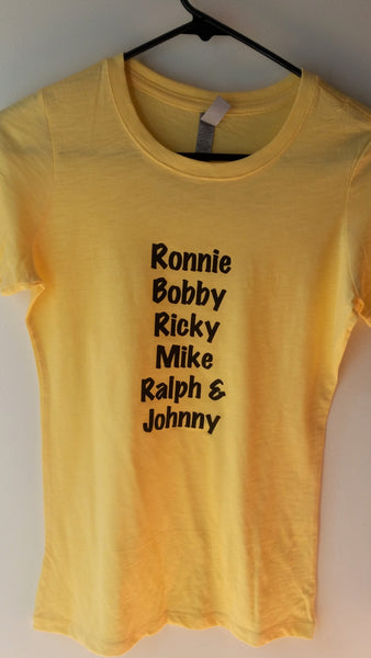 Names of New Edition Tee