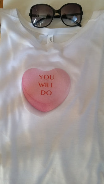 Candy Heart-You Will Do Crop Tee