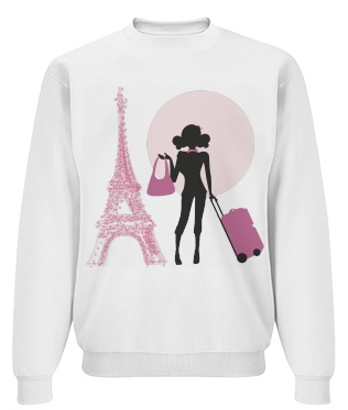Pink Paris Travel Doll Sweatshirt