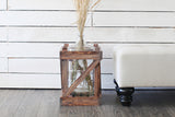 Nuevo Vintage Wood Crates - set of 2 (with glass jugs)