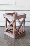 Nuevo Vintage Wood Crates - set of 2 (without glass jug)