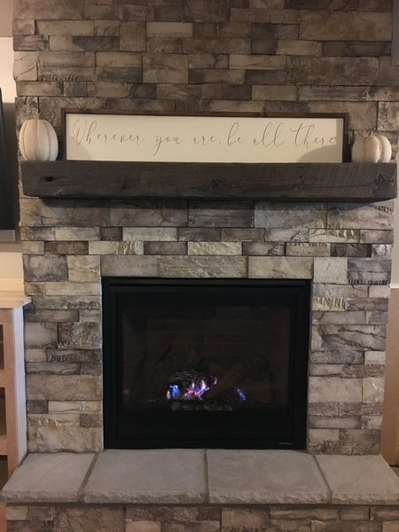 Custom Floating Mantel