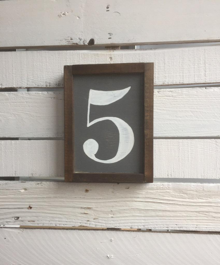 Number Wood Sign