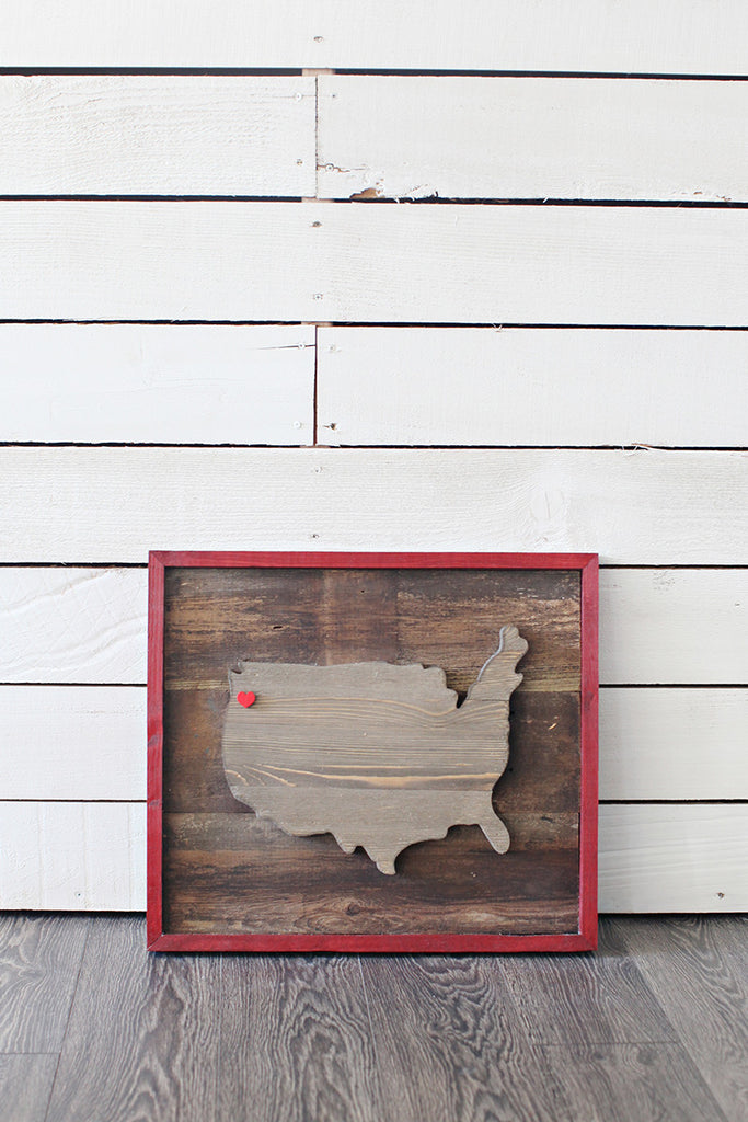 USA Wood Plank Art