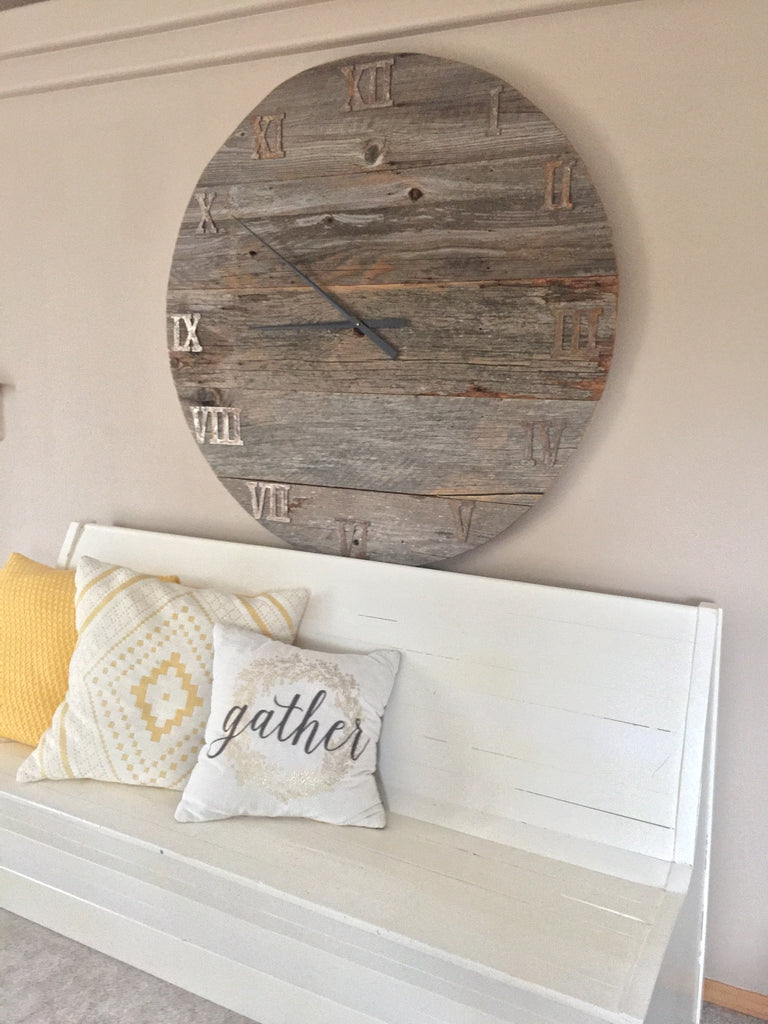 Custom Wood Wall Clock