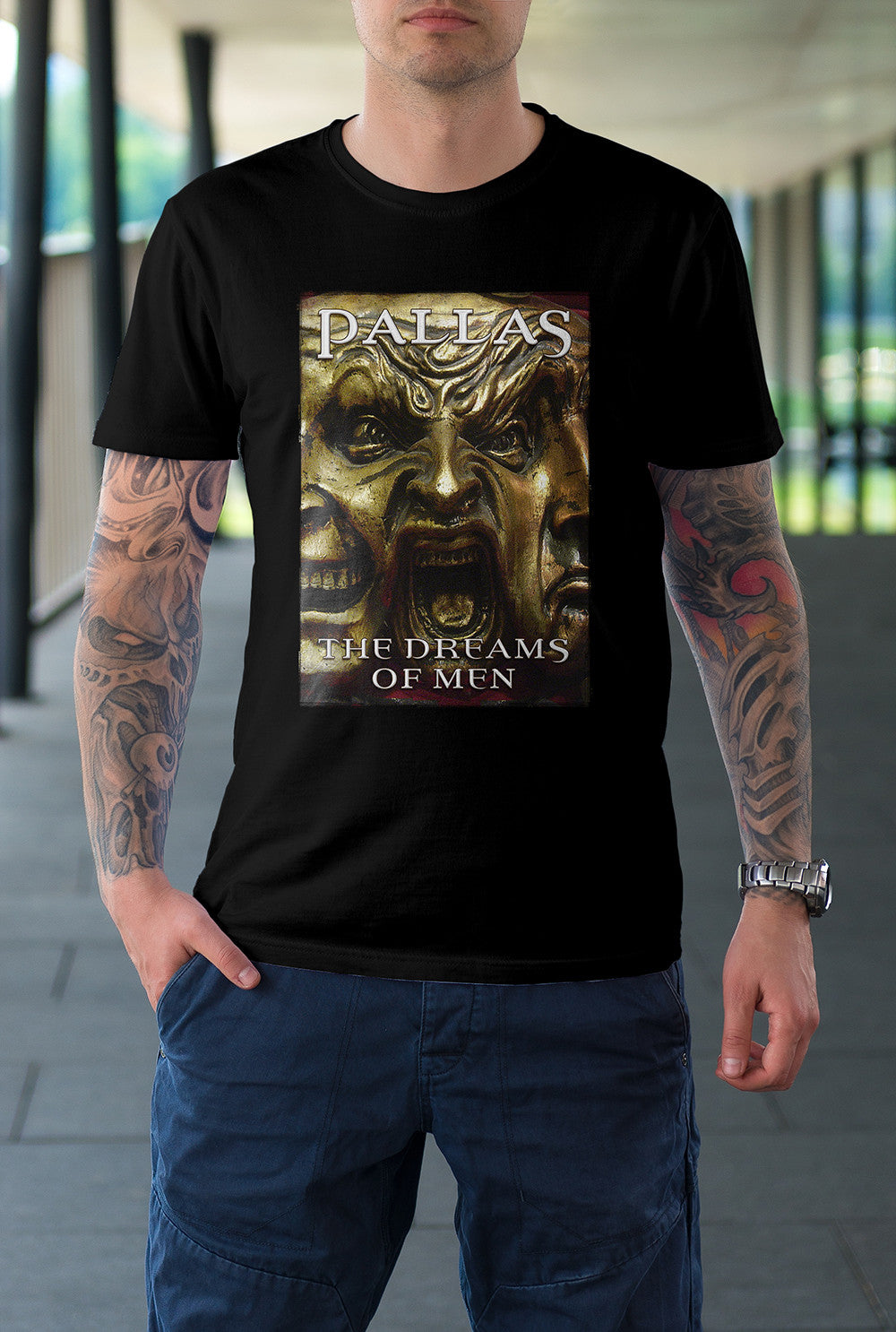 "Pallas :: The Dreams Of Men ""Three Faces""<p> Unisex Gildan T Shirt In a Range of 12 colours Custom T Shirt by Lets Get Shirty Dot Com"