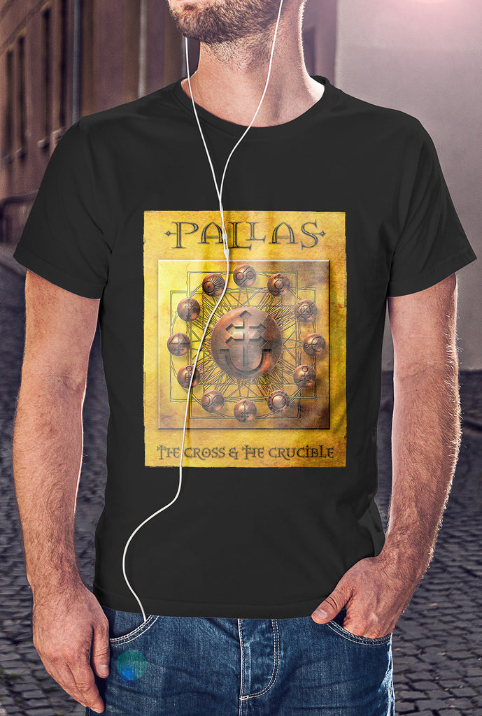 Pallas :: The Cross and The Crucible Cover<p> Unisex Gildan T Shirt In a Range of 12 colours Custom T Shirt by Lets Get Shirty Dot Com