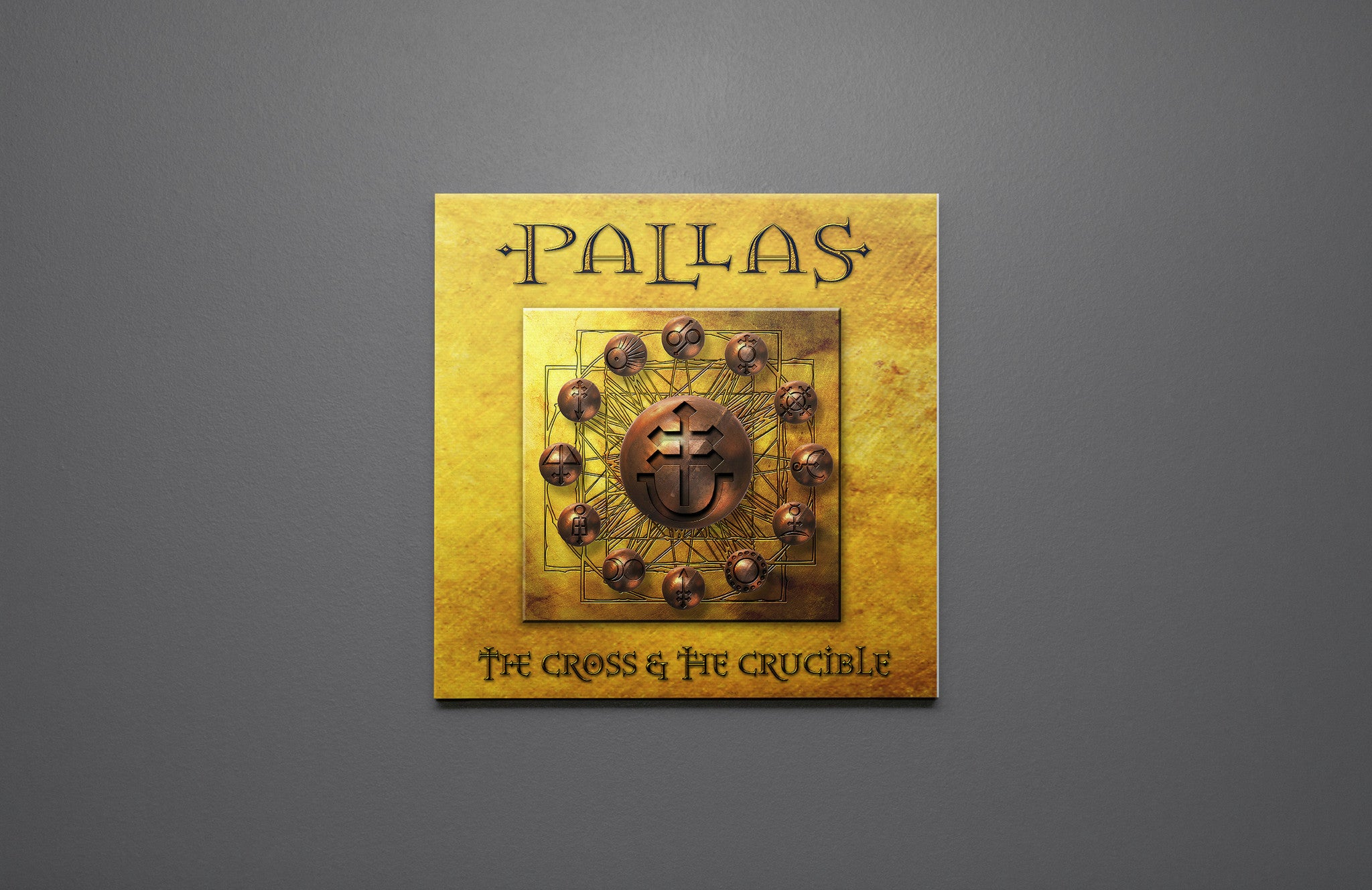 Pallas The Cross And The Crucible Canvas Wall Art Custom T Shirt by Lets Get Shirty Dot Com