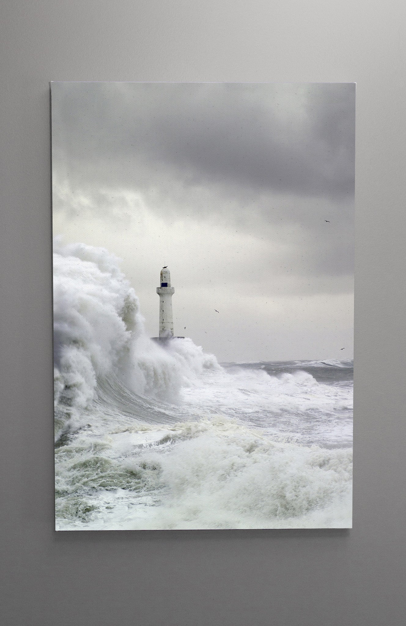 Aberdeen Leading Light in Storm Vertical Wall Canvas Custom T Shirt by Lets Get Shirty Dot Com