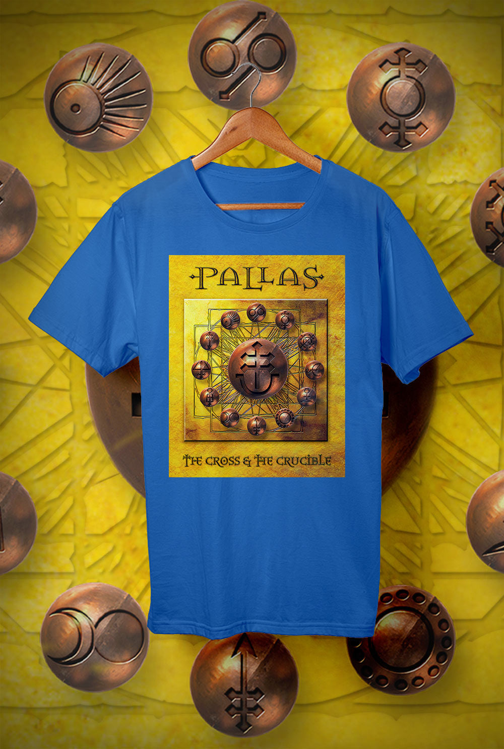 Pallas :: The Cross and The Crucible Cover<p> Unisex Gildan T Shirt In a Range of 12 colours