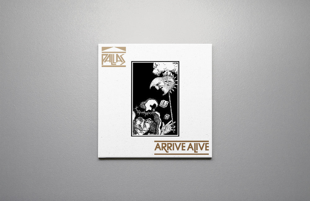 Pallas Arrive Alive LP Canvas Wall Art Custom T Shirt by Lets Get Shirty Dot Com