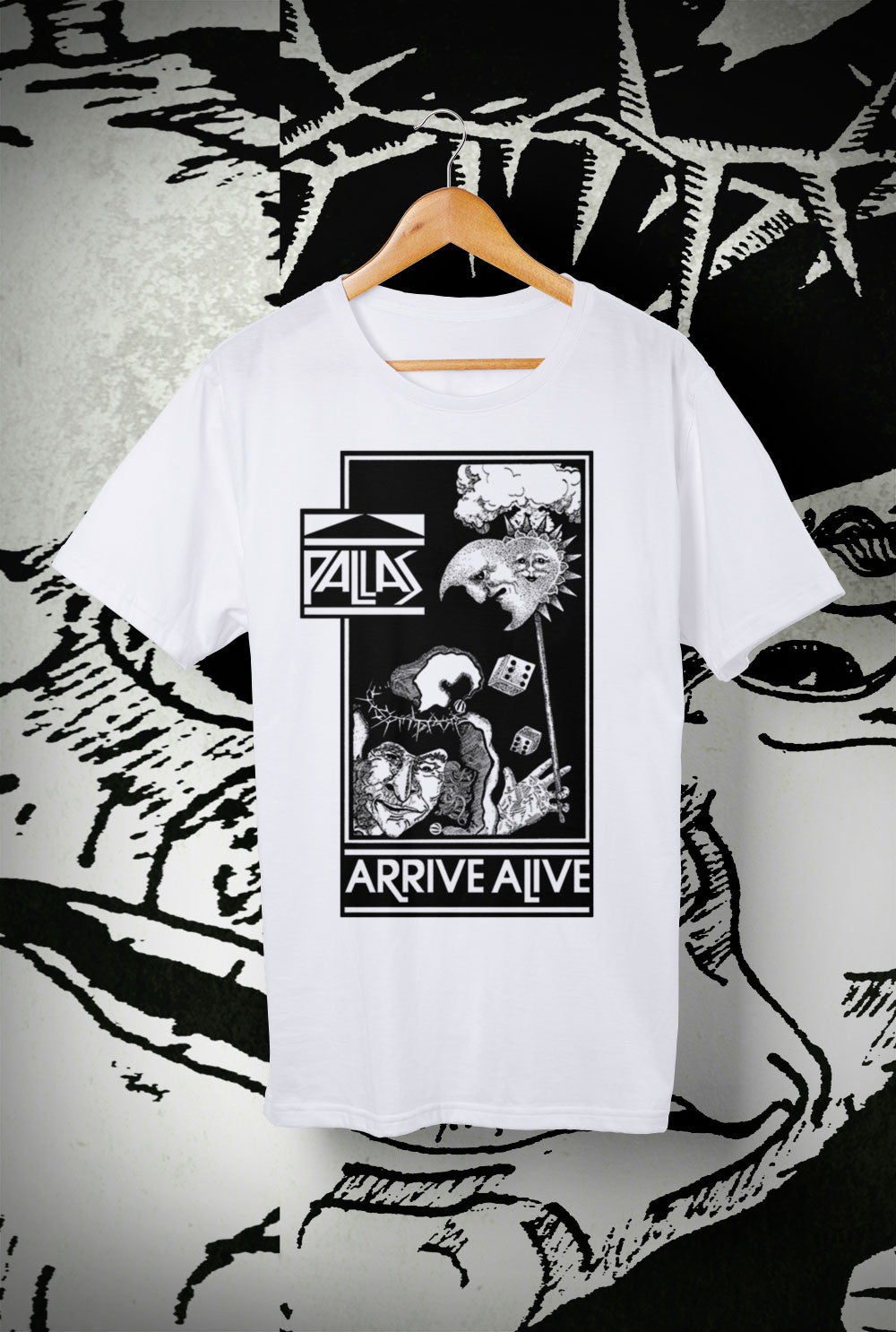 Pallas Arrive Alive Kids T Shirts<p> In Black, White, Red and Purple Custom T Shirt by Lets Get Shirty Dot Com