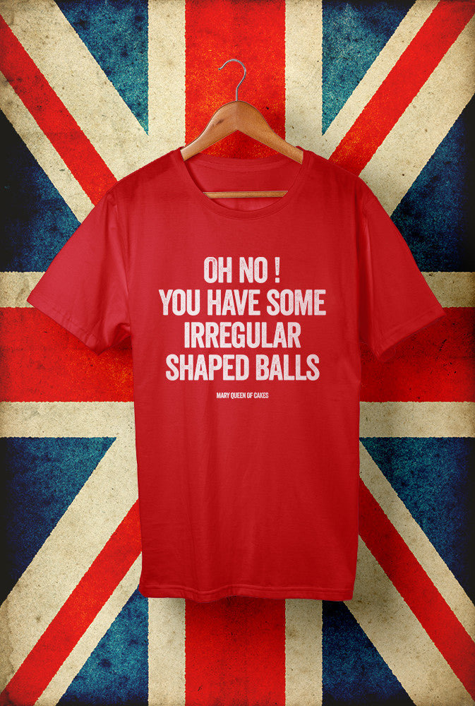 Irregular Shaped Balls<p> Unisex Gildan T Shirt In Red White Or Blue Custom T Shirt by Lets Get Shirty Dot Com