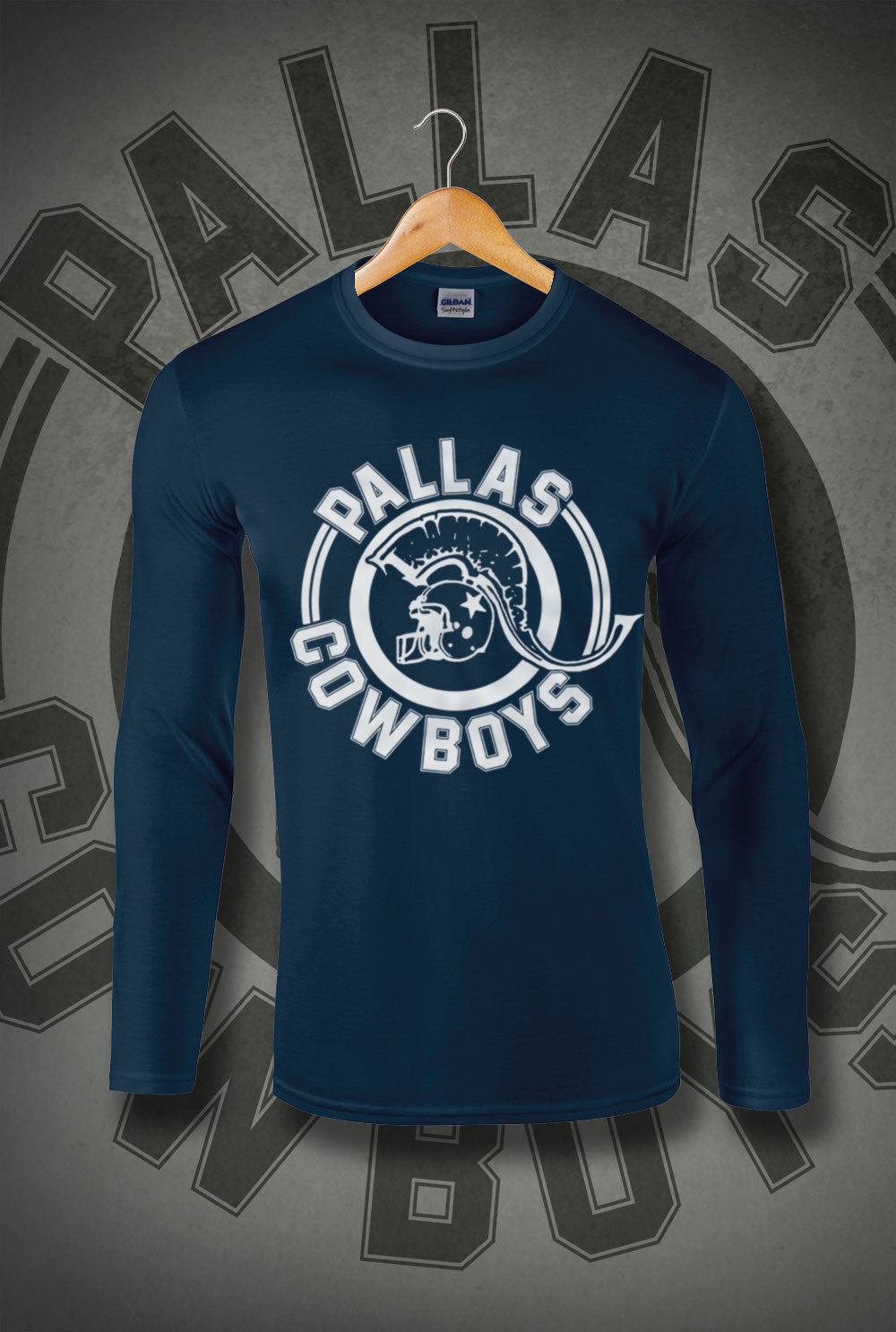 Pallas Cowboys Long Sleeve T-Shirt<p> In Black, White, Red and Navy Custom T Shirt by Lets Get Shirty Dot Com