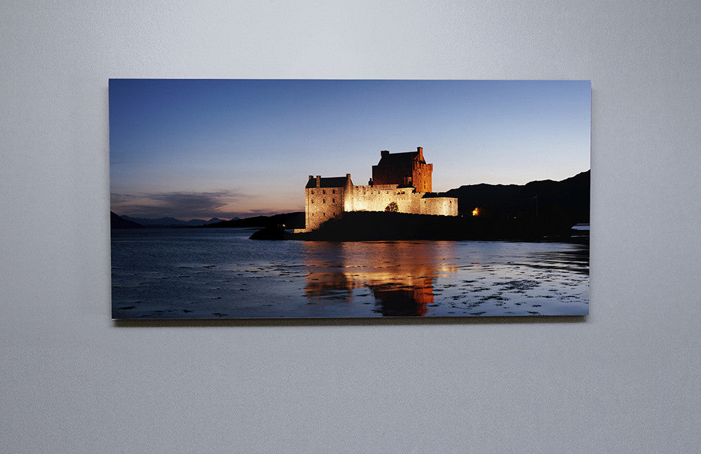 Eilean Donan Castle At Dusk Canvas Wall Print Custom T Shirt by Lets Get Shirty Dot Com